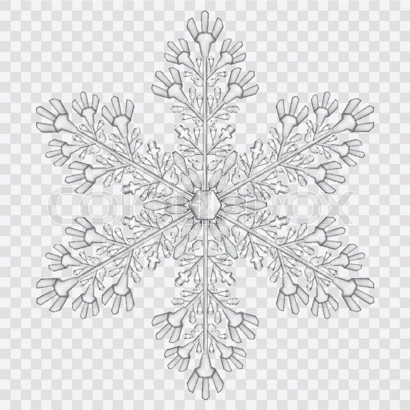 big translucent crystal snowflake in gray colors on transparent background transparency only in snowflake clipart black and white snowflake clipart black and white
