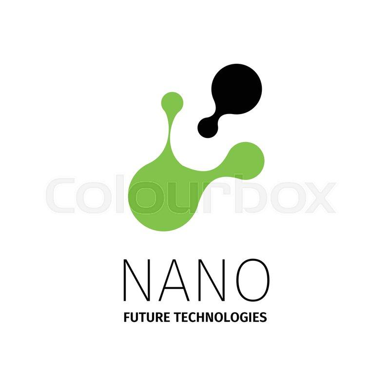 Nano logo - nanotechnology. Template design of logotype. Vector ...