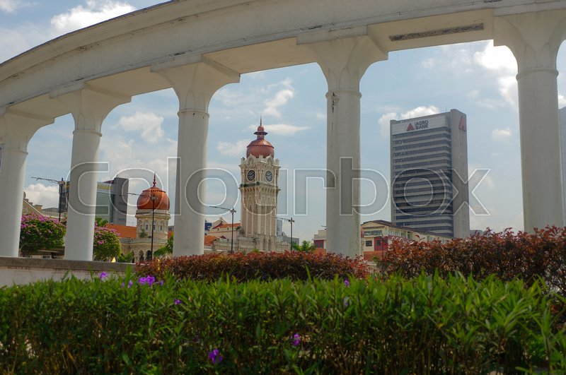 Editorial image of 'KUALA LUMPUR, MALAYSIA - November 16. 2016: the Clock tower of Sultan Abdul Samad building near Merdeka Square'