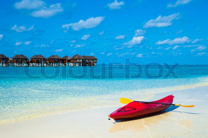Stock image of 'Tropical beach in Maldives'