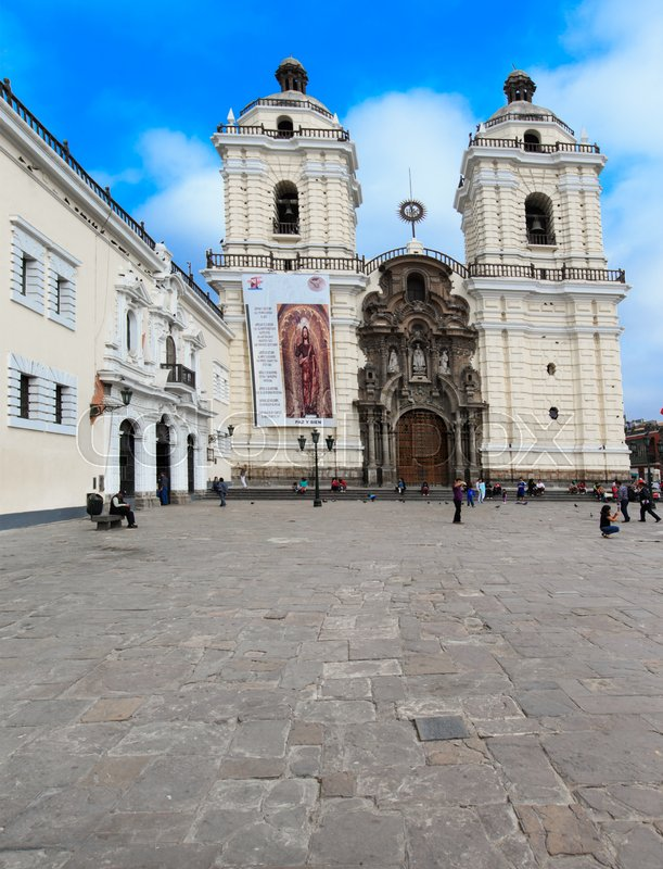 Editorial image of 'Monastery of San Francisco is located in Lima, Peru'