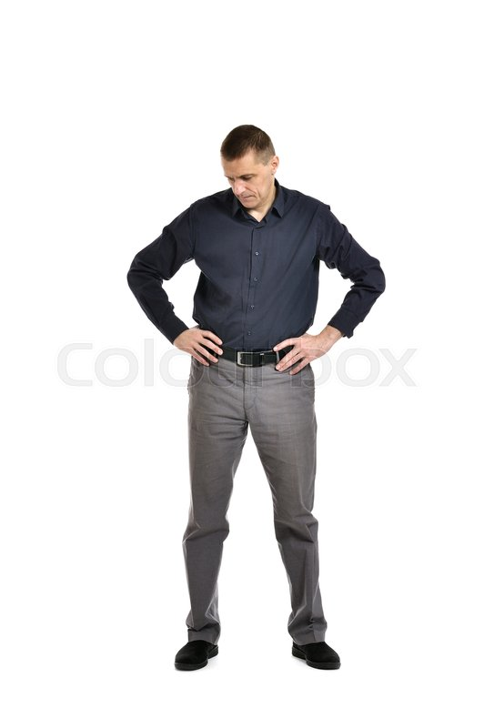 Stock image of 'Confident man posing on a white background'