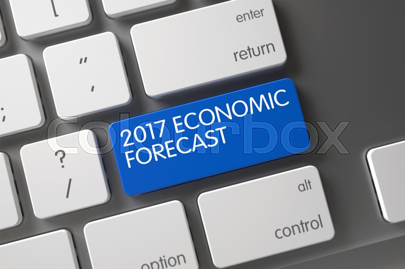 Stock image of '2017 Economic Forecast Key on Modern Laptop Keyboard. 2017 Economic Forecast on Metallic Keyboard Background. Keyboard with Blue Button - 2017 Economic Forecast. 2017 Economic Forecast Key. 3D Render.'