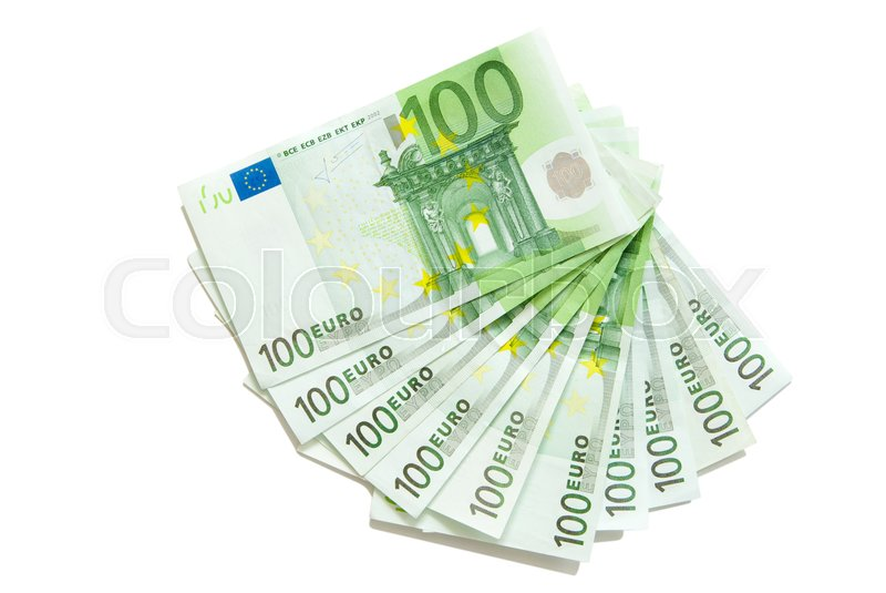 Stock image of 'Euro bills euro banknotes money'