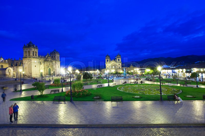 Stock image of 'Cusco City Centre Peru South America'