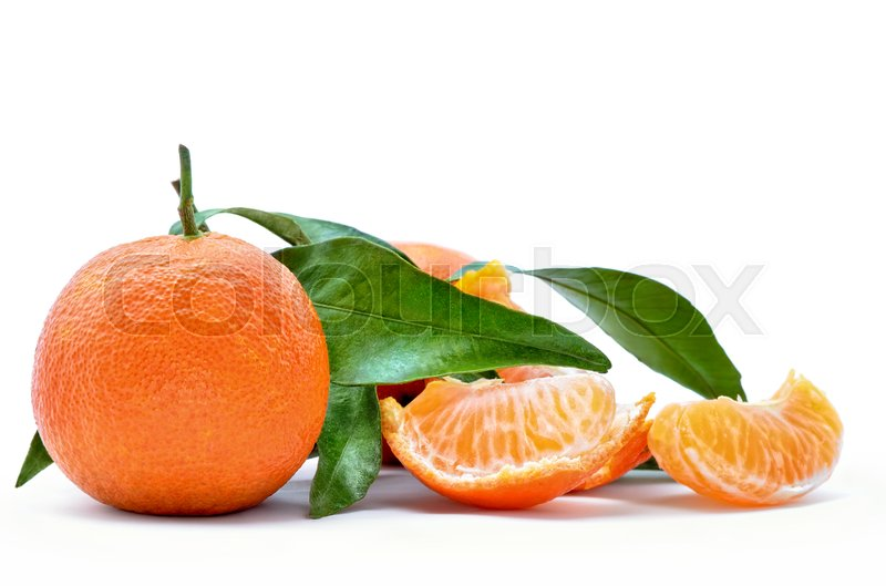 Stock image of 'Fresh, ripe citrus, isolated on white background'