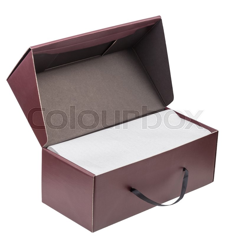 Stock image of 'Gift box isolated on white background with clipping path'