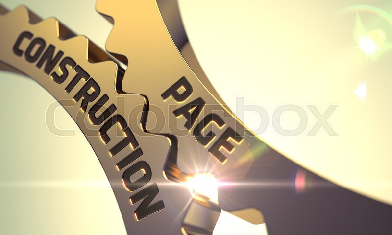 Stock image of 'Page Construction - Illustration with Glow Effect and Lens Flare. 3D.'