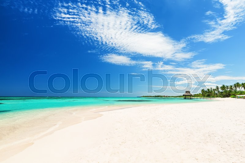 Stock image of 'Beautiful white sandy beach in Punta Cana, Dominican Republic'