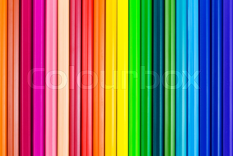 Stock image of 'Colorful background with crayons'