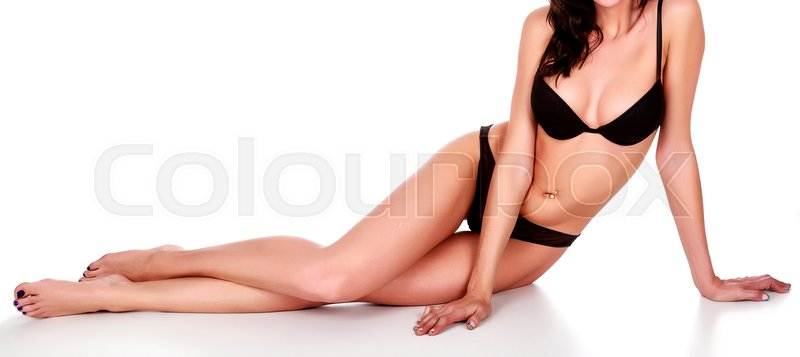 Stock image of 'Sexy woman on white background, isolated'