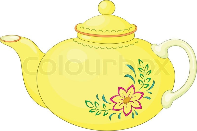 China Yellow Teapot With A Pattern Stock Vector Colourbox