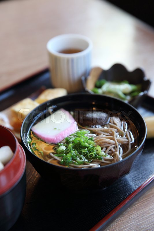 Stock image of 'Soba noodles japanese food'