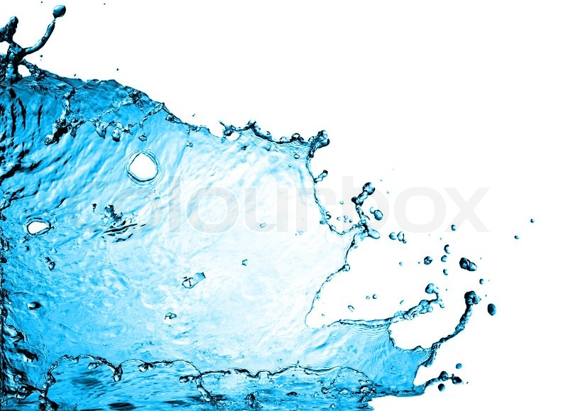 Cool Water On White Background