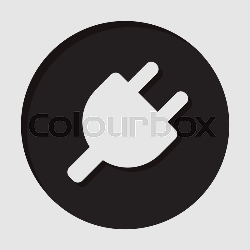 Plug Power Stock Quote: Black Circle With White Electrical Plug