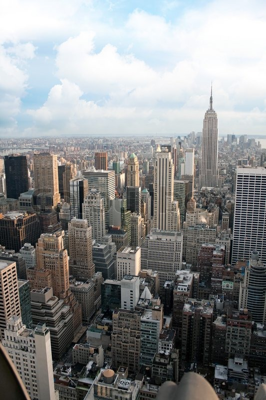 Vertical Aerial View Of The Manhattan ...