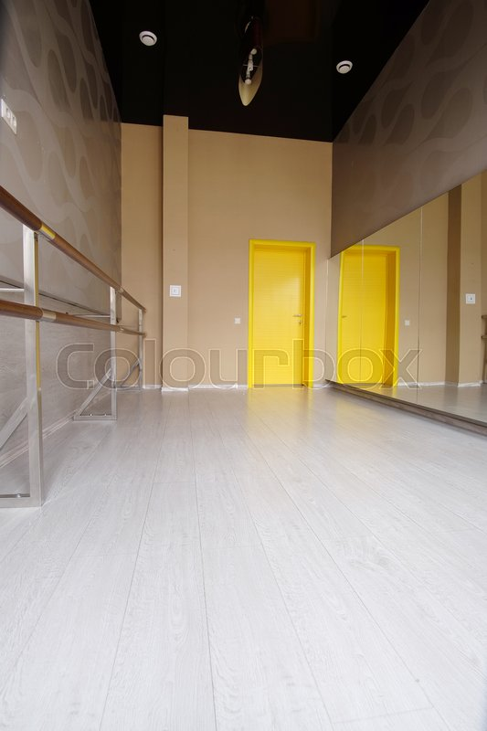Interior of a dance hall, stock photo