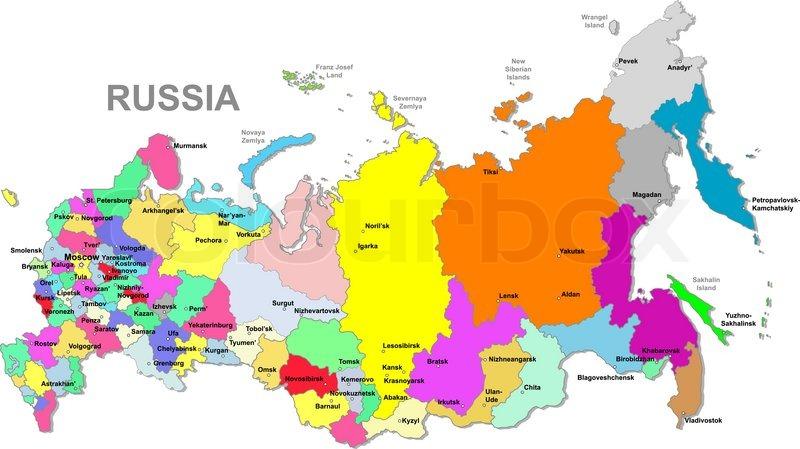 Russischen Föderation map | Vektorgrafik | ColourboxRussische Foederation