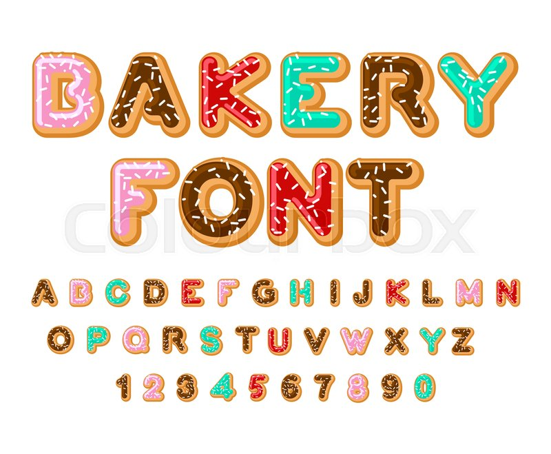 bakery font donut abc baked in oil letters chocolate icing and sprinkling edible typography gift box clipart png pic gift box clipart with tag