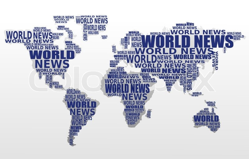 World News Concept Abstract World Map Stock Vector Colourbox