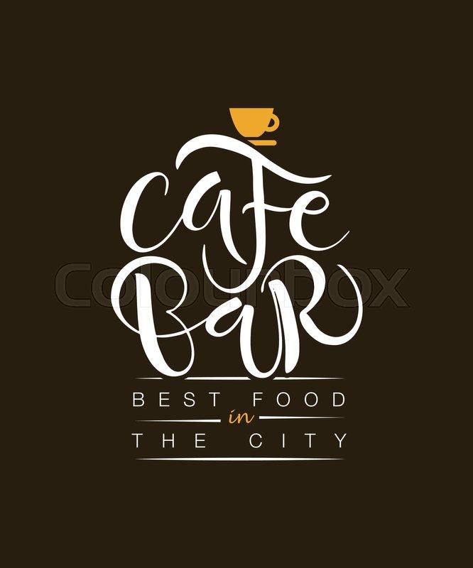 Cafe, Bar, Restaurant, Lounge logotype     | Stock vector
