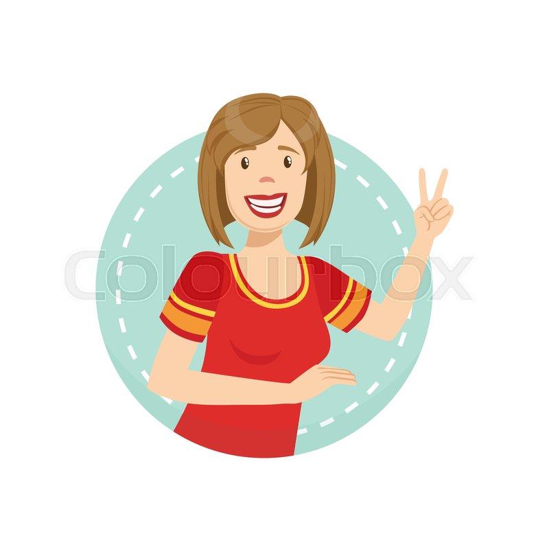 Cheerful Emotion Body Language     | Stock vector | Colourbox