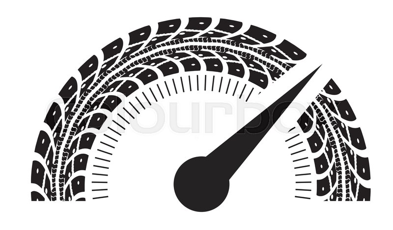 speedometer vector illustration styling by tire tracks vector rh colourbox com tire track vector png tire track vector free