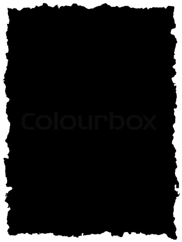 black sheet of paper with torn edge