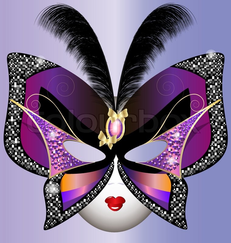 Against The Violet Background Of The Carnival Butterfly Mask Inspiration Half Masks To Decorate