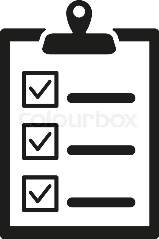the checklist icon clipboard symbol flat vector Paper Tear Clip Art Notebook Paper Printable