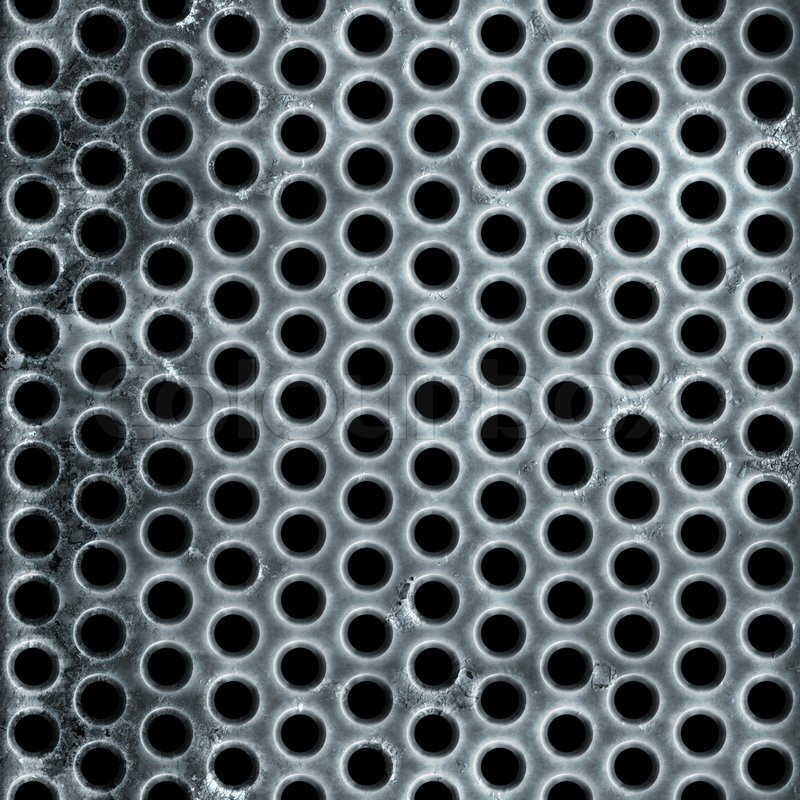 A metal air vent or wire mesh grill plate material with a grungy ...