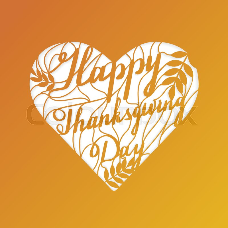 Thanksgiving laser cut template. Paper cutting ornamental panel. Die ...
