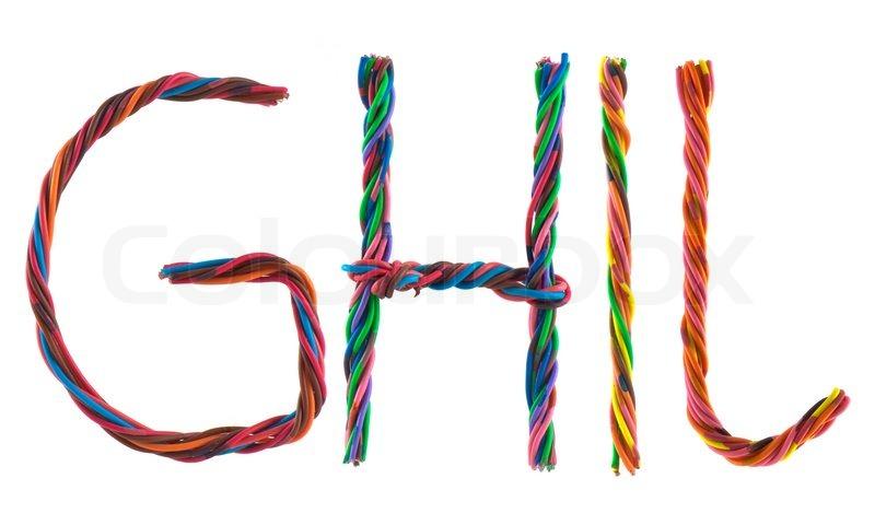 Draht Buchstaben auf weißem Hintergrund | Stockfoto | Colourbox