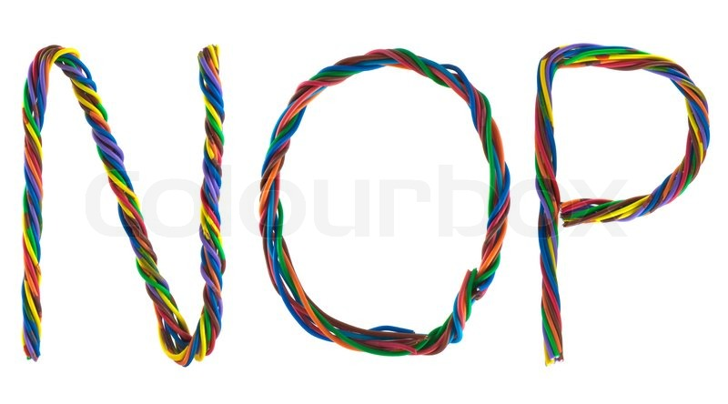 Wire letters isolated on white background | Stock Photo | Colourbox