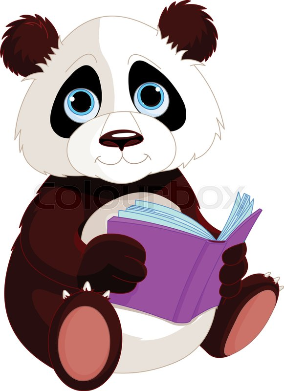 Cute Panda Is Reading A Book Education