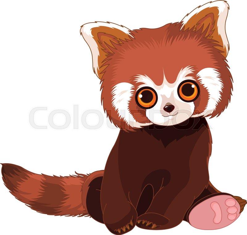 illustration of cute red panda stock vector colourbox