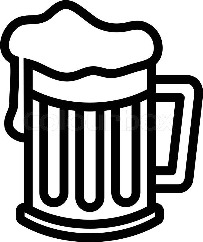beer mug vector icon stock vector colourbox rh colourbox com beer vector art beer vector download