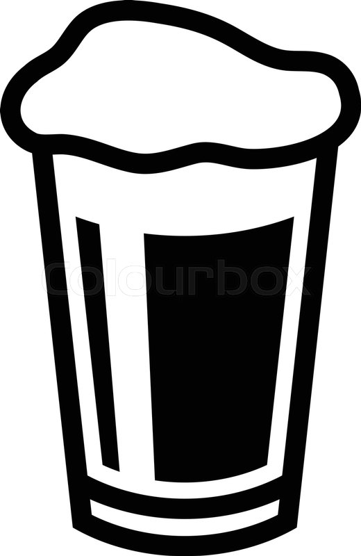 Beer Pint Glass graphic | Stock Vector | Colourbox