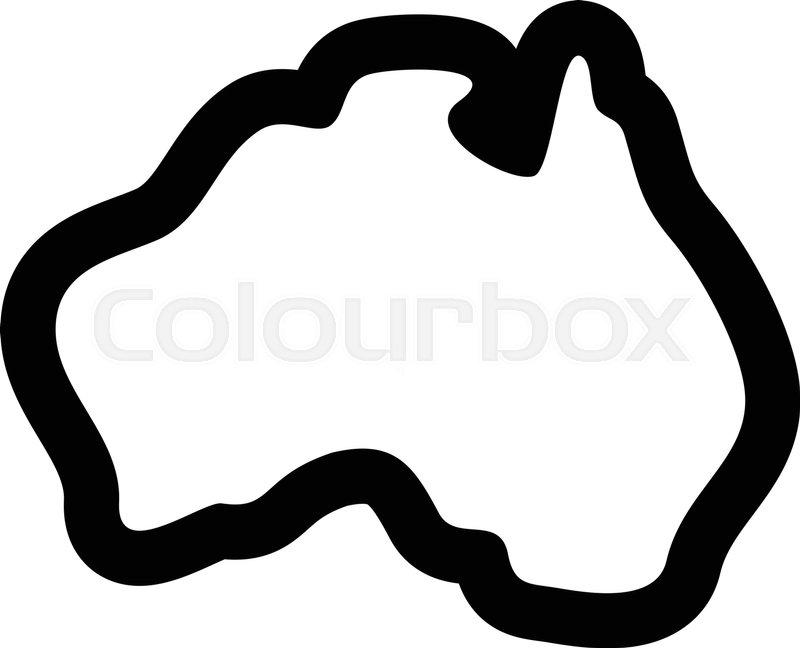 Australia Map Shape.Australia Map Geography Shape Vector Stock Vector Colourbox