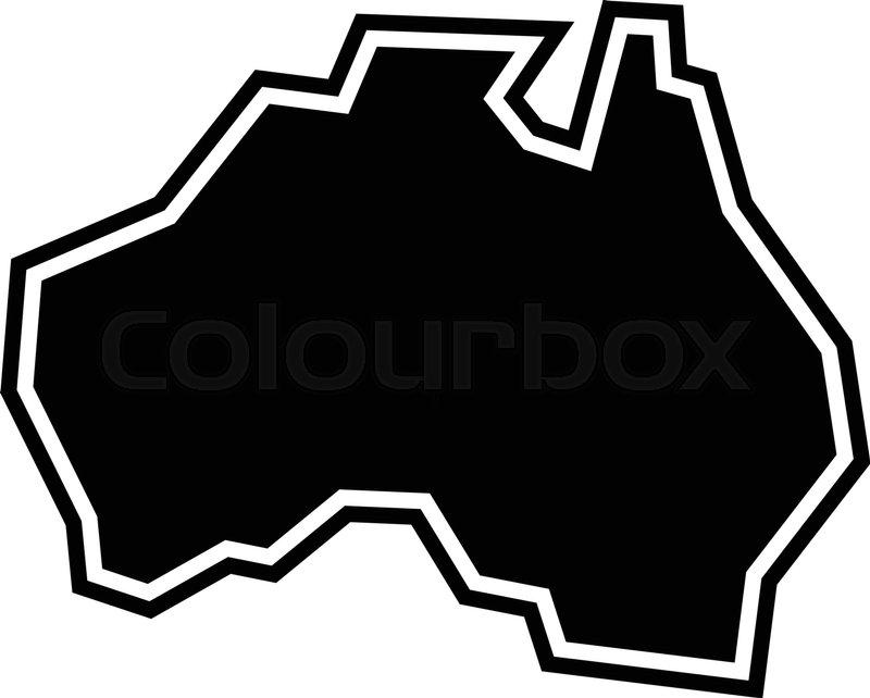 Australia Map Icon.Australia Map Geography Shape Vector Stock Vector Colourbox