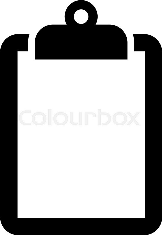 clipboard vector icon stock vector colourbox rh colourbox com clipboard vector free download clipboard vector free download
