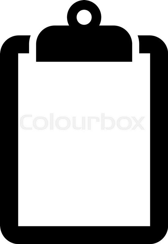 clipboard vector icon stock vector colourbox rh colourbox com clipboard vector icon free clipboard vector icon