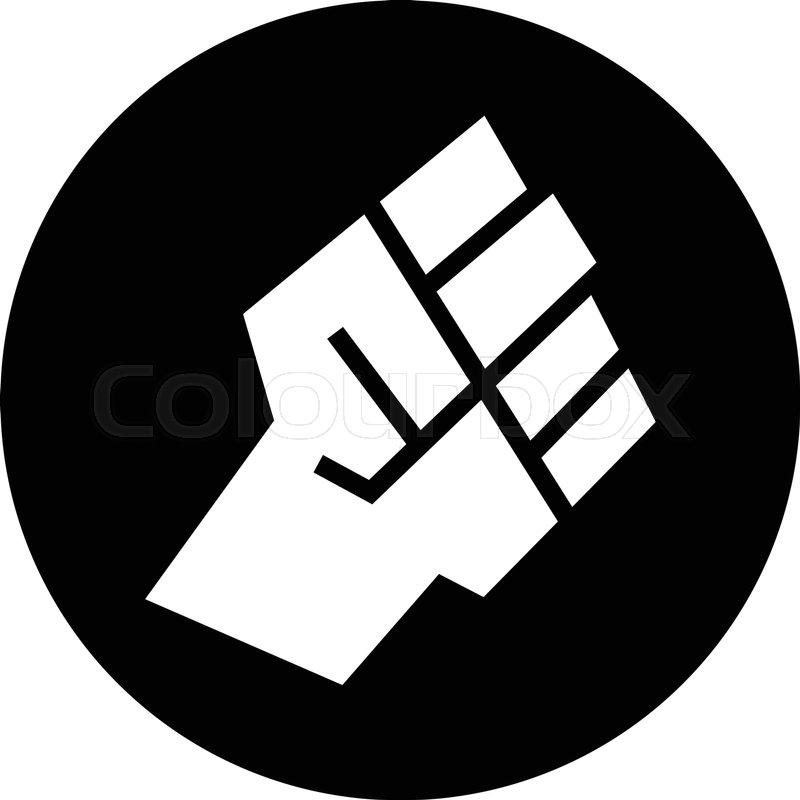 raised fist vector icon stock vector colourbox rh colourbox com first victory first victoria national bank