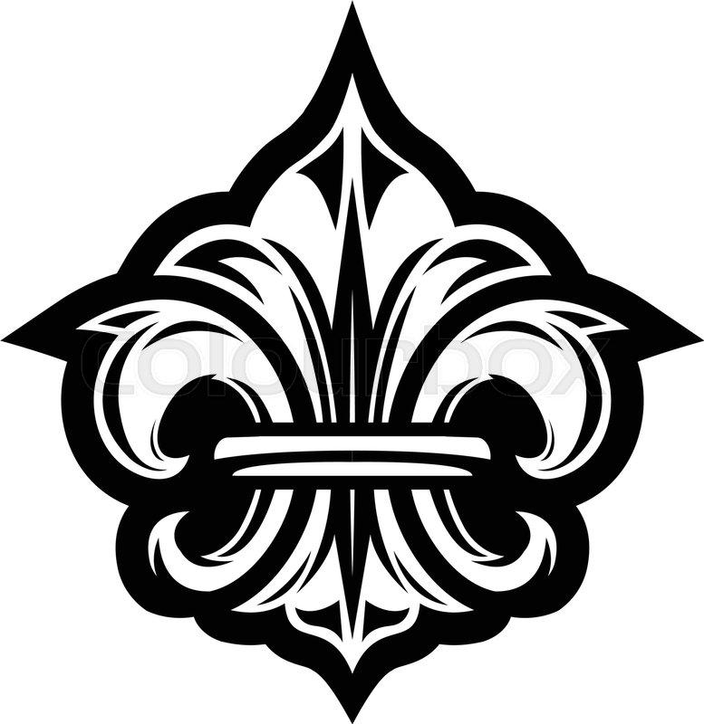 Fleur De Lis Symbol Stock Vector Colourbox