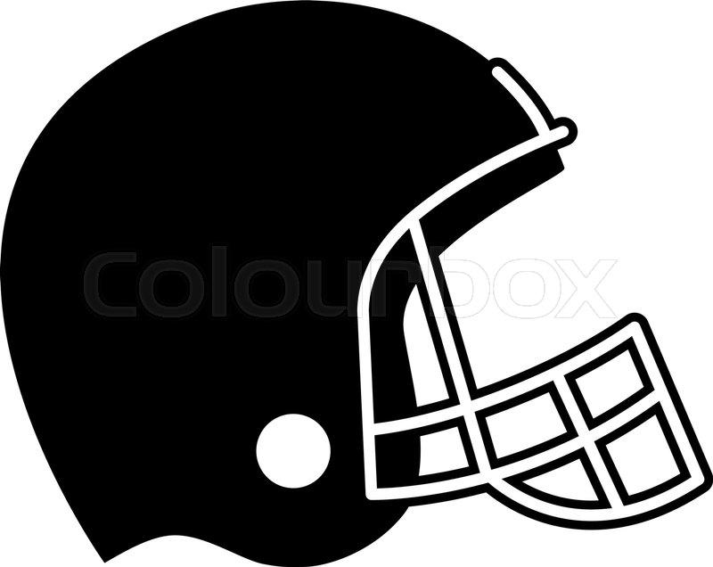 Football Helmet Vector Icon Stock Vector Colourbox