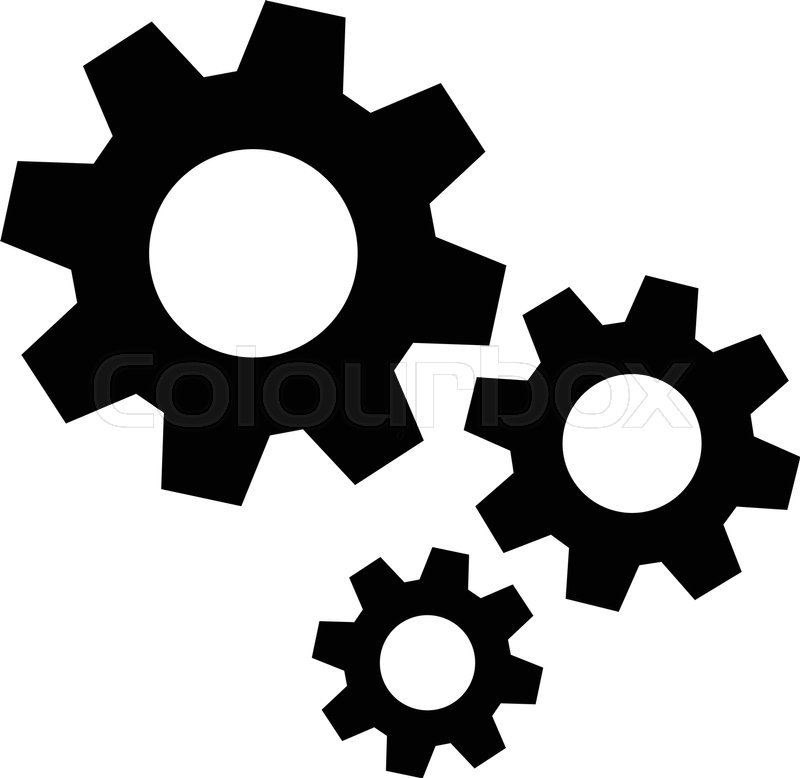 metal mechanical gears vector icon stock vector colourbox