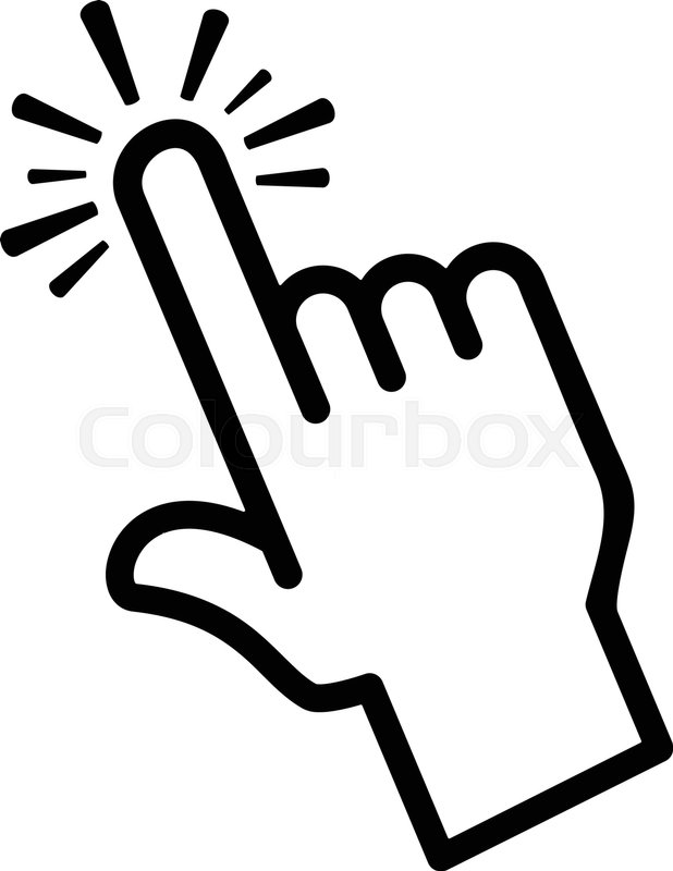 finger touch vector icon stock vector colourbox Email Icon Website Icon Vector