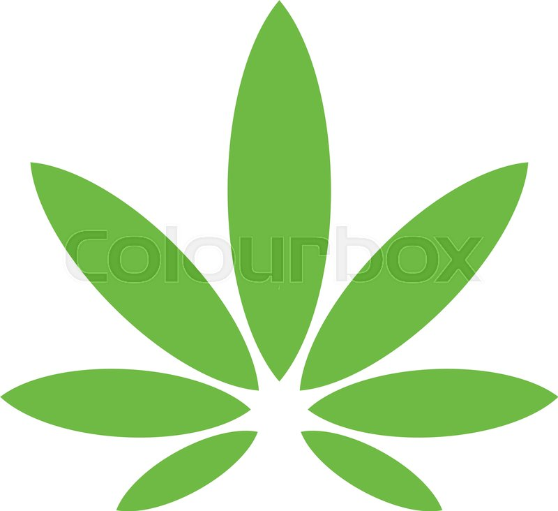 stylized green marijuana pot weed leaf vector logo stock vector rh colourbox com marijuana leaf vector free marijuana leaf vector free download