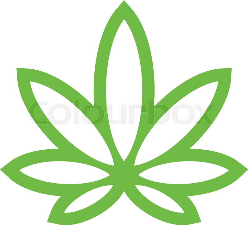 stylized green marijuana pot weed leaf vector logo stock vector rh colourbox com marijuana leaf vector image marijuana leaf vector image