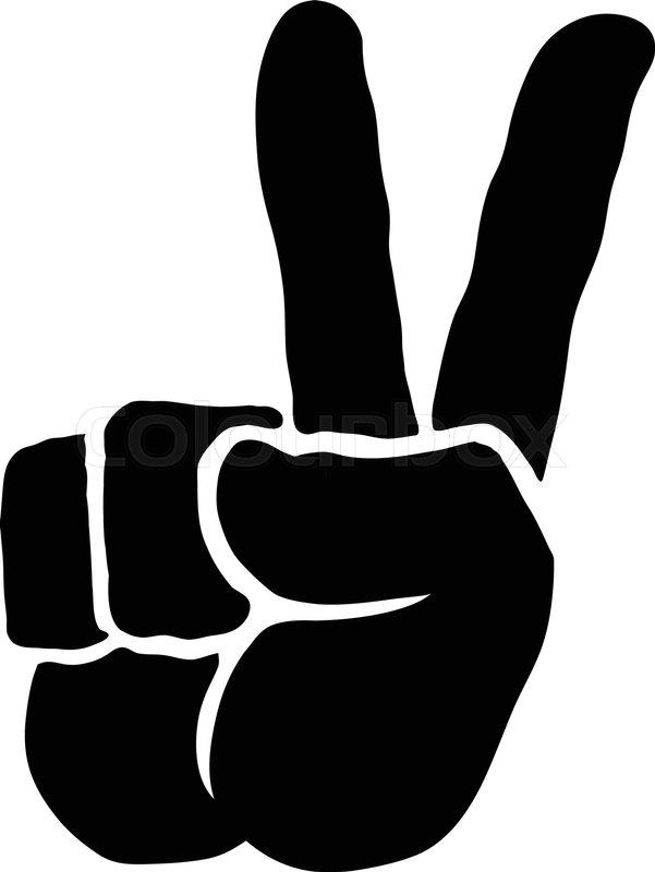 Peace Sign Hand Stock Vector Colourbox